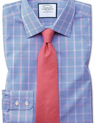 Charles Tyrwhitt Slim fit Prince of Wales check blue shirt
