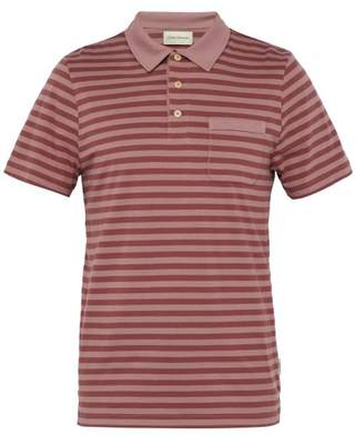 Oliver Spencer Dunmore Striped Cotton Polo Shirt - Mens - Pink Multi