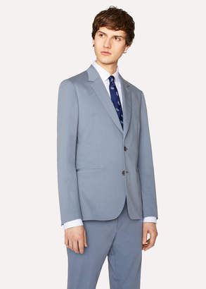 Paul Smith Men's Tailored-Fit Light Blue Stretch-Cotton Twill Blazer
