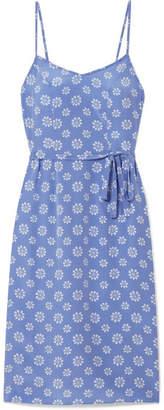 HVN - Lily Floral-print Silk Crepe De Chine Slip Dress - Blue