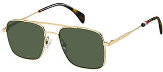 Tommy Hilfiger Lean Arrow 55mm Aviator Sunglasses
