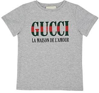 """Gucci Kids' """"La Maison De L'Amour"""" Cotton T-Shirt"""