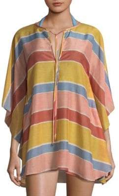 Hermanny ViX by Paula Guadalupe Stripe Caftan