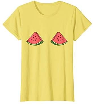 Womens Funny Watermelon Boobs T-Shirt