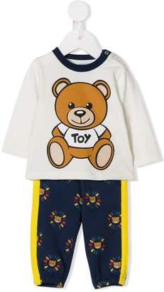 Moschino Kids teddy logo print T-shirt and trousers set