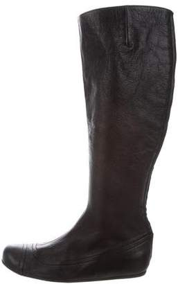 Lanvin Leather Mid-Calf Boots