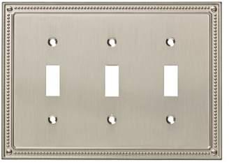 Franklin Brass Classic Beaded Triple Switch Wall Plate