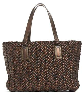 Bottega Veneta Lido Tricolor Metallic Leather Tote