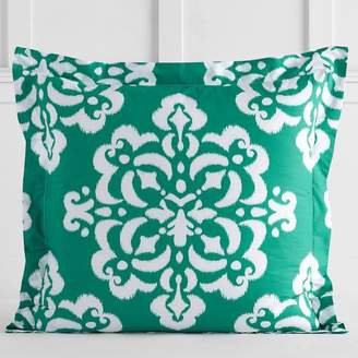 Pottery Barn Teen Ikat Medallion Sham, Euro, Bright Green