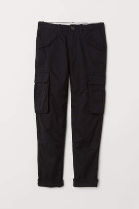 H&M Lined Cargo Pants - Black