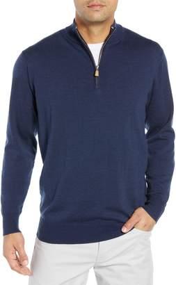 Peter Millar Regular Fit Half Zip Wool & Linen Pullover