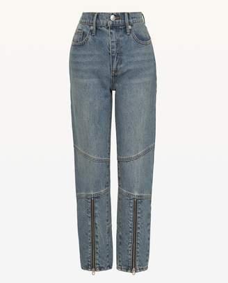 Juicy Couture JXJC Zip Leg Moto Girlfriend Jean