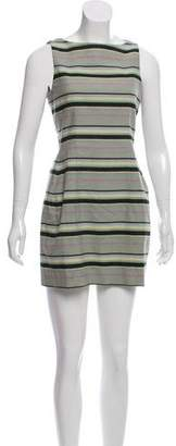 Yigal Azrouel Cut25 by Striped A-Line Dress