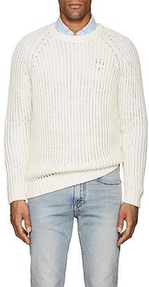Barneys New York Men's Cotton-Alpaca Crewneck Sweater - Ivorybone