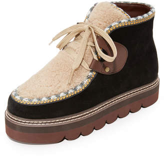 See by Chloe Klaudia Platform Shearling Booties $395 thestylecure.com