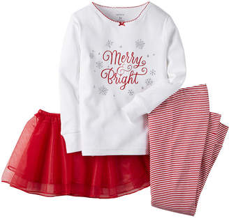 Carter's Tee, Tutu and Leggings - Toddler Girls 2t-5t