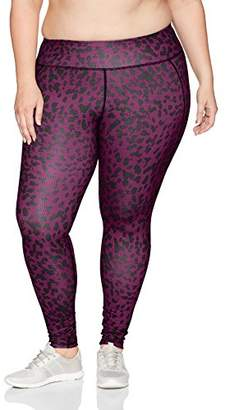 Fruit of the Loom Fit for Me by Women's Plus Size Active Printed Legging