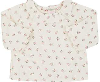Bonpoint Infants' Floral-Print Ruffled-Collar Cotton Blouse