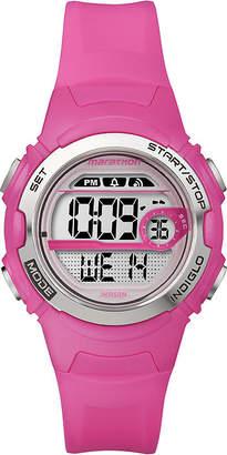 Timex MARATHON BY Marathon by Womens Pink Resin Strap Digital Watch T5K771M6