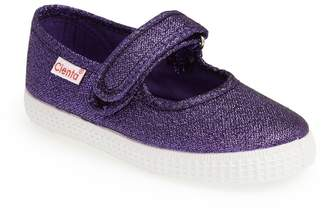 Cienta Glitter Canvas Mary Jane