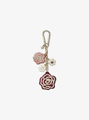 Michael Kors Leather Rose Key Chain