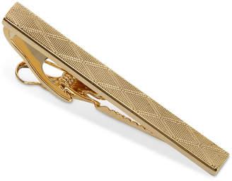 Ryan Seacrest Distinction Polished Rhodium and Plaid Tie Clip
