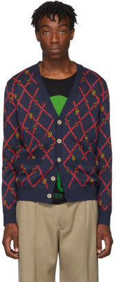 Gucci Blue Wool Cardigan