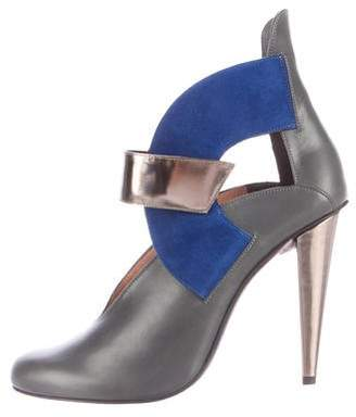 Roland Mouret Quatro Cutout Ankle Boots w/ Tags