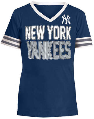 5th & Ocean New York Yankees Rhinestone T-Shirt, Girls (4-16)