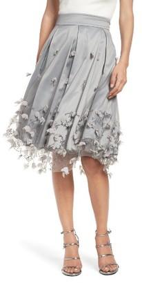 Women's Eliza J Floral Applique Ball Skirt $168 thestylecure.com