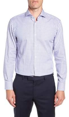 BOSS Sharp Fit Mark Check Dress Shirt