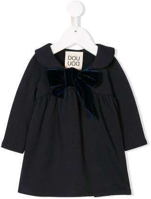 Douuod Kids bow front midi dress