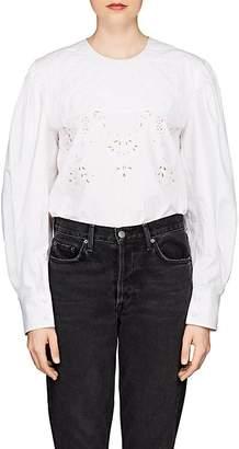 Etoile Isabel Marant Women's Wona Embellished Cotton Poplin Blouse