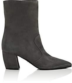 Prada Women's Suede Ankle Boots-Nebbia