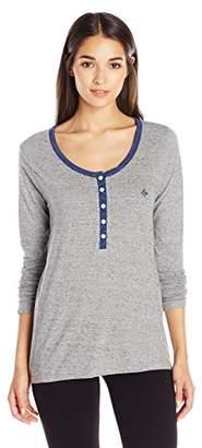 Tommy Hilfiger Women's Long Sleeve Shirt Pajama Top PJ