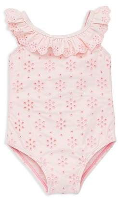 Little Me Girls' Eyelet Ruffled Swimsuit - Baby