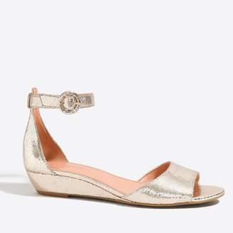 J.Crew Factory Metallic demi-wedge sandals