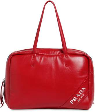 Prada Large Nappa Puffed Top Handle Bag