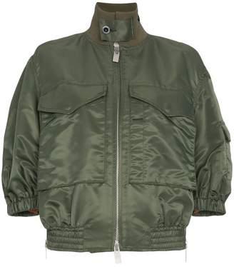 Sacai oversized two pocket bomber jacket