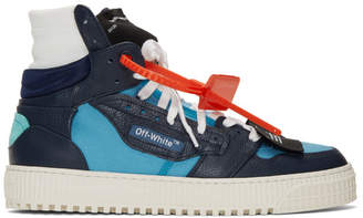 Off-White Off White Blue and Navy 3.0 Off-Court Sneakers