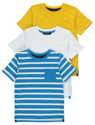 George T-Shirts Assorted 3 Pack