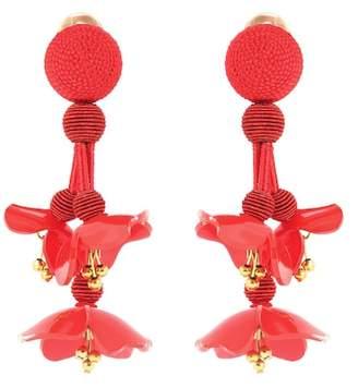 Oscar de la Renta Falling clip-on earrings