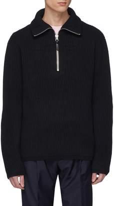 Acne Studios 'Fisherman' Wool blend half zip sweater