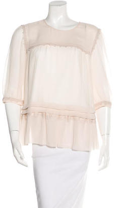 Alice by Temperley Embroidered Three-Quarter Sleeve Top $75 thestylecure.com