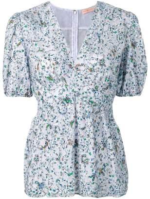 Tory Burch floral print lace blouse