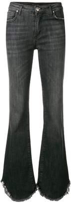 Federica Tosi fringed hem flared jeans