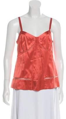 Marc Jacobs Silk Sleeveless Top Orange Silk Sleeveless Top