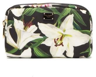 Dolce & Gabbana Lilium Print Cosmetics Case - Womens - Black Multi