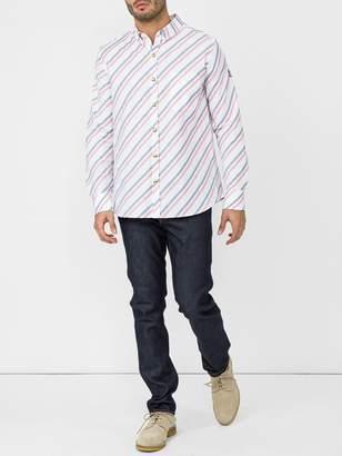 Moncler White diagonal shirt
