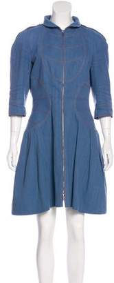 Chanel Denim Zip Dress
